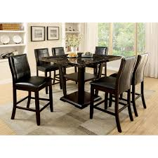 Marble Top Kitchen Table Set Rectangle Marble Dining Table Signature Design By Ashley