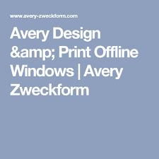 Avery 3378 Template Avery Design Print Offline Windows Avery Zweckform
