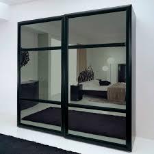 overwhelming mirror sliding door closet elegant bedroom design with great black mirror closet sliding door