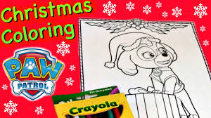 Christmas Coloring Pages Paw Patrol With Paw Patrol Skye Printable