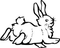 Running Rabbit Outline Clip Art Free Vector 4vector