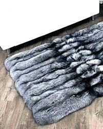 grey faux fur rug 5 gallery blue area rugs gray natures collection new sheepskin light