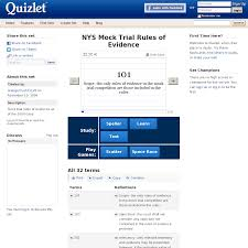 website quizlet com nys mock trial rules of  mock trial rules of evidence as of the 2009 case learn flashcards games and more for