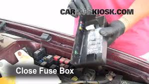 replace a fuse subaru outback subaru outback 6 replace cover secure the cover and test component