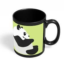 cute mugs online. Delighful Cute Coffee Mugs Online  Cute Baby Panda Minimal Black Mug India Intended U