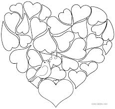 free printable valentine heart coloring pages kids hearts for preschoolers printabl