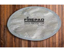 Deck Protector Fire Pit Heat Shield Outdoor Fire Pits Fireplaces Grills