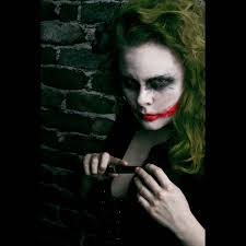 oohande on fashiontap joker model jen raven gesso makeup ande castaneda