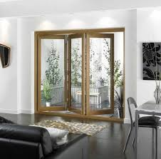 appealing sliding glass patio doors with unfinished wood frame for living area