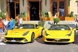 ferrari 2014 yellow. monte carlo monaco august 2 2014 yellow sportcars ferrari near the casino p