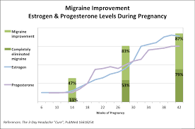 Estrogen And Progesterone Levels In Pregnancy Chart Pregnancy A Migraine Cure