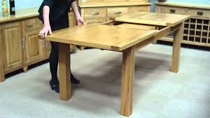 Dining Extension Table How To Extend A Middle Extension Table Youtube