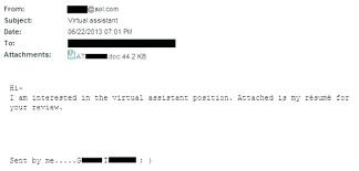 Sending Resume Through Email #25351