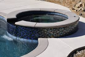 here is a picture of the spa right after pool was completed i ll add another picture of the ed tile when i get a chance
