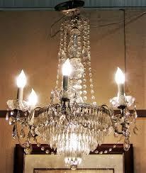 vintage schonbek crystal 6 arm chandelier