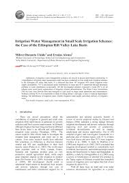 Ethiopian Construction Design And Supervision Works Corporation Website Pdf Irrigation Water Management In Small Scale Irrigation