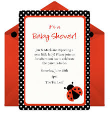 Ladybug Baby Shower Decorations  Shower That BabyFree Printable Ladybug Baby Shower Invitations
