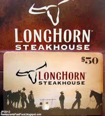 longhorn steakhouse gift card