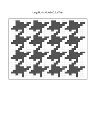 Houndstooth Knitting Pattern Chart Large Houndstooth Knitting Chart Free Download From Www
