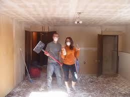 diy asbestos ceiling removal