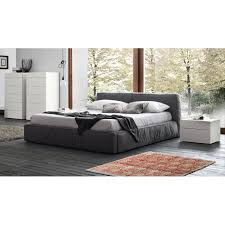 dark grey upholstered bed. Contemporary Upholstered Twist Dark Grey Upholstered Bed By Rossetto Inside K
