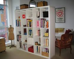 Living Room Bookcase Apartments Living Room Partition Design With Amazing Shelves For