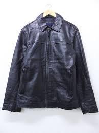 old clothes leatherette jacket banana republic banana republic black black large size used men outer leather