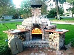 outdoor fireplace pizza oven combo and plans diy