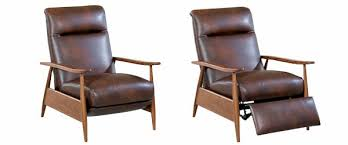 contemporary recliner chairs leather. peter mid-century modern leather reclining club chair contemporary recliner chairs g