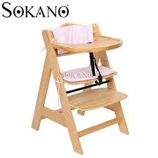 height adjule sy solid wooden baby and kid high chair and dining chair with cushion and
