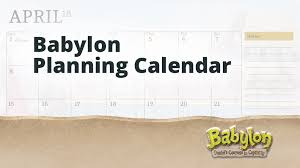 Group Planning Calendar Babylon Planning Calendar Group Vbs Tools