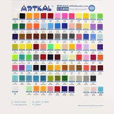 Bead Color Chart Mini Artkal Beads C 2 6mm Full Colors 101 Bags Cb1000 F Mini Jewelry Making Beads