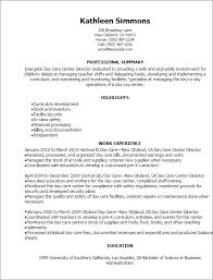 Resume Templates: Day Care Center Director Resume