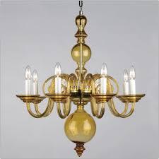 cheap chandelier lighting. Impex CB05519/08/AMB Preciosa 8Lt Amber Glass Chandelier Cheap Lighting N