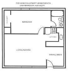 one bedroom house plans. 1 Bed Bath House Plans One Bedroom Floor Photo . M