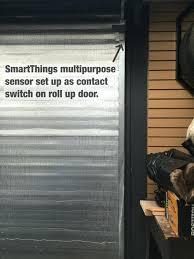 smartthings garage door garage smartthings garage door monitor