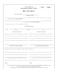 Personal Bill Of Sale For Car Car Bill Of Sale Form Free Auto Bill Of Sale Template
