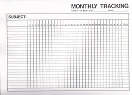 Monthly Tracking Chart Image Result For Monthly Goal Tracker Template Templates