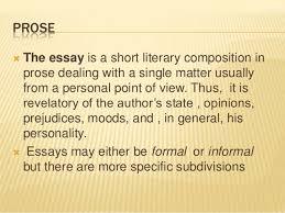 prose proseiuml131146the essay