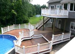 multi level deck design free best two ideas on tiered above ground pool pools