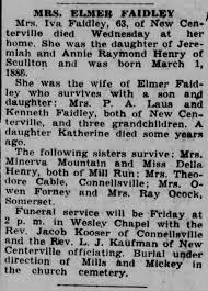 Iva Henry Faidley (husband Elmer) Obit 1951 - Newspapers.com
