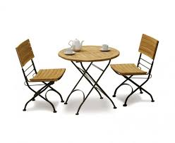 teak bistro table and chairs. Teak Folding Bistro Round 0.8m Table \u0026 2 Side Chairs And C