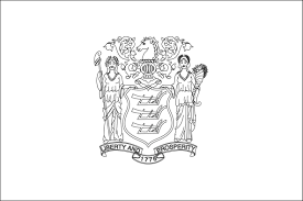 New Jersey State Flag Coloring Page - FunyColoring