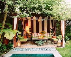 eclectic outdoor furniture. View In Gallery Back Patio With A Garden Tent (photo Via Lonny) Eclectic Outdoor Furniture R