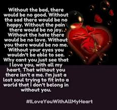 I Love You With All My Heart Quotes Extraordinary I Love You With All My Heart Poems And Sayings Cute Love Quotes