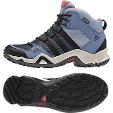 adidas hiking shoes. adidas outdoor ax2 mid gtx hiking boot - womens prismblue/black/super blush, shoes