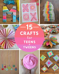 15 crafts for s a tweens including yarn crafts garlands painting and