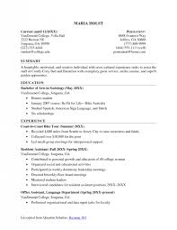 How To Write A Resume For College Best 5910 How To Write A Resume For How To Write A College Resume Cute How To