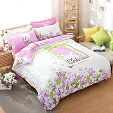 childrens double duvet sets uk bedding for teens kids cartoon duvet cover set 100 cotton rabbit