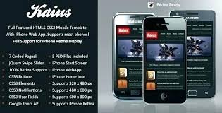Bootstrap Android App Template Free Washington Html Front
